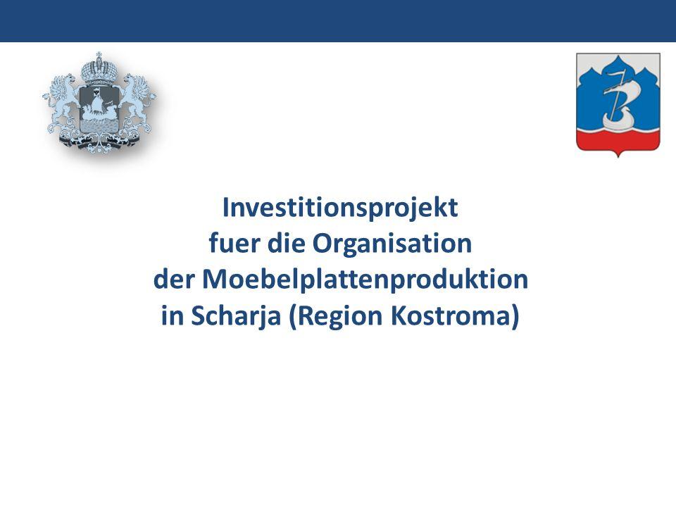 Investitionsprojekt fuer die Organisation der Moebelplattenproduktion in Scharja (Region Kostroma)