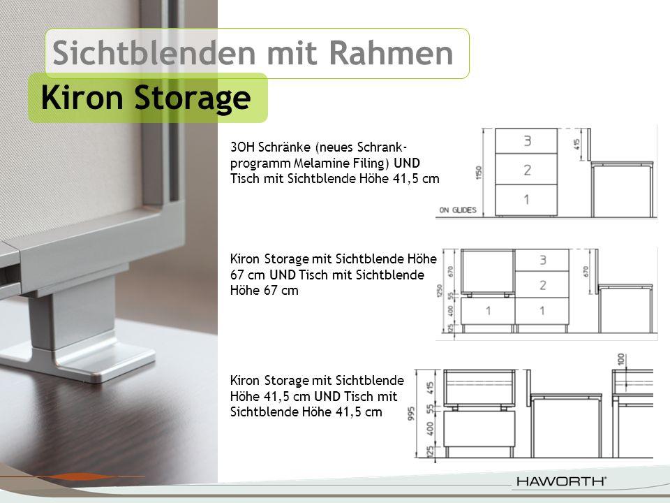Sichtblenden mit Rahmen Kiron Storage Kiron Storage mit Sichtblende Höhe 67 cm UND Tisch mit Sichtblende Höhe 67 cm Kiron Storage mit Sichtblende Höhe