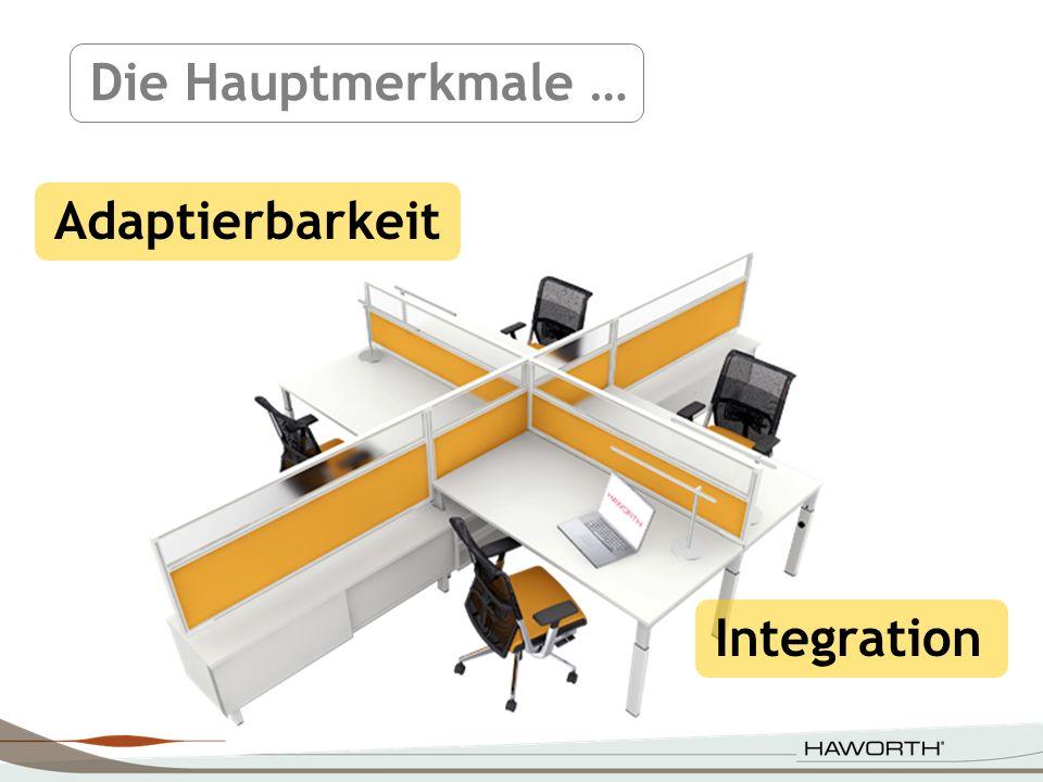 Für einen funktionalen Arbeitsplatz.Die gleiche Plattform für verschiedene Produkte.