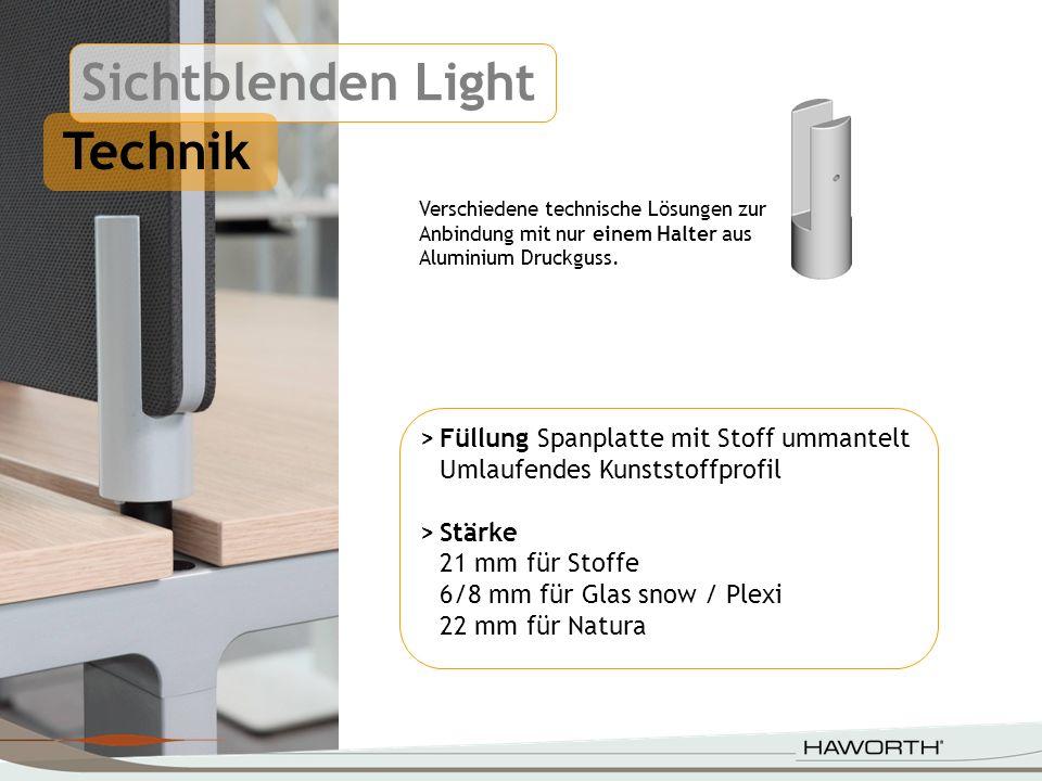 415 320 Ausführungen Sichtblenden können außerhalb und auch innerhalb der Tischplatte positioniert werden.