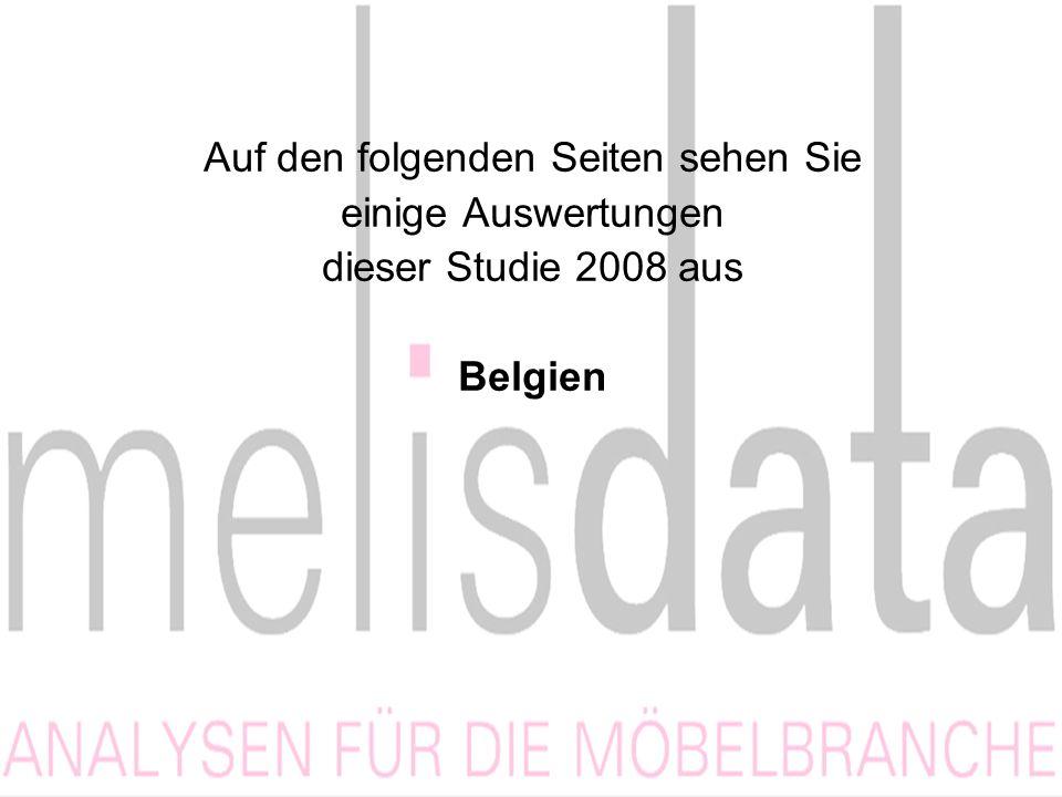 Auf den folgenden Seiten sehen Sie einige Auswertungen dieser Studie 2008 aus Belgien