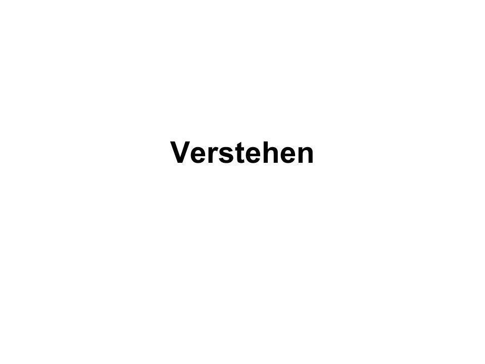 Verstehen