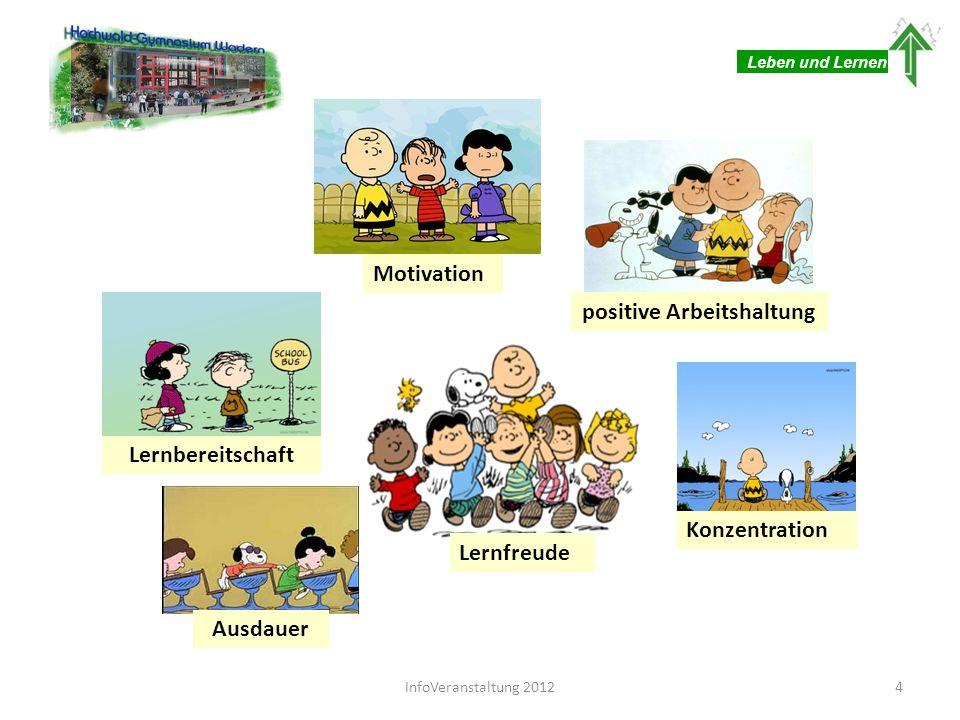 Lernfreude Motivation Ausdauer Konzentration positive Arbeitshaltung Lernbereitschaft Leben und Lernen 4InfoVeranstaltung 2012