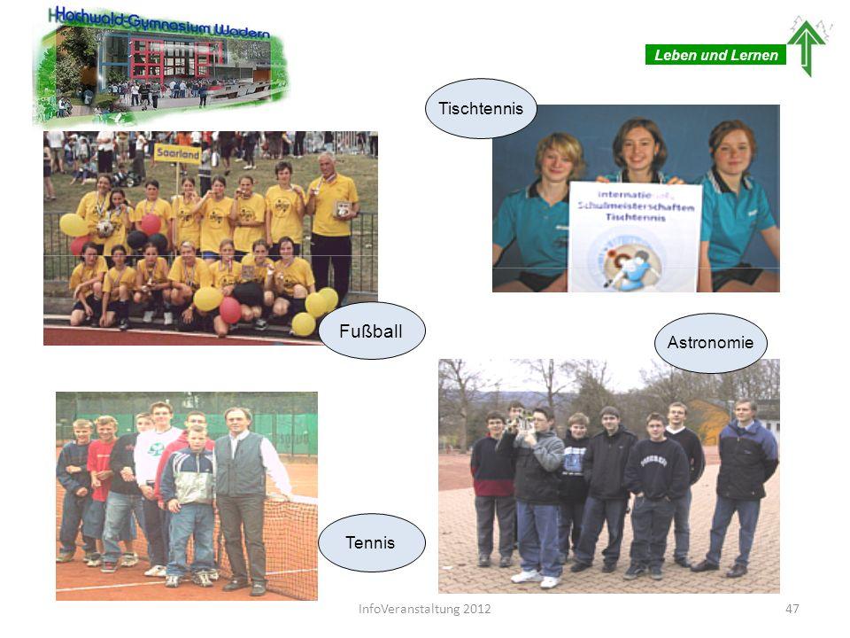 Leben und Lernen Tischtennis Fußball Tennis 47InfoVeranstaltung 2012 Astronomie