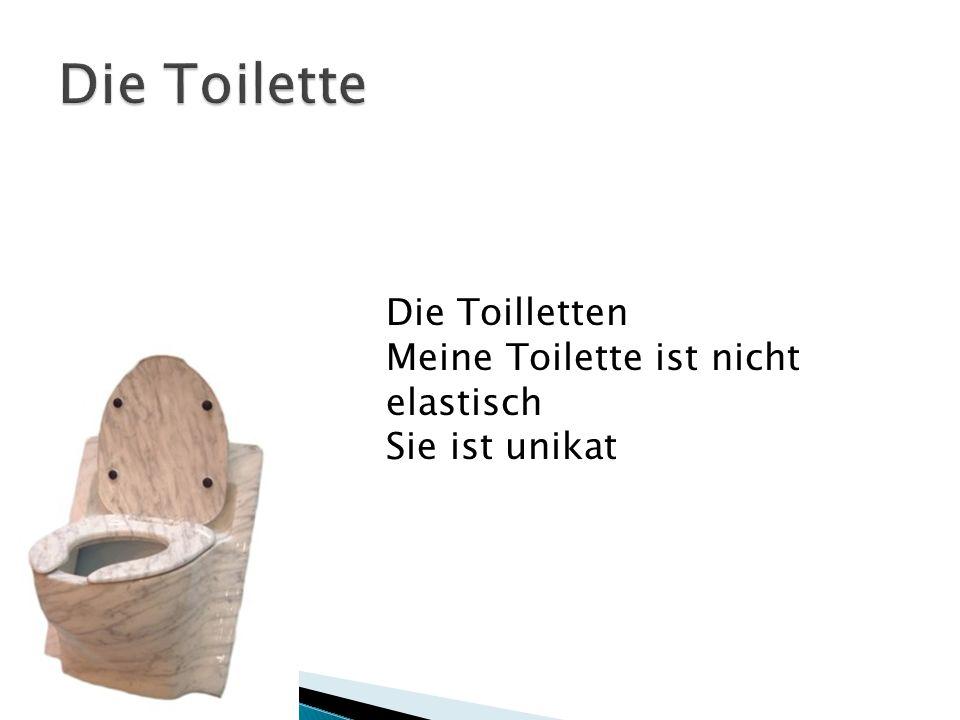 Die Toilletten Meine Toilette ist nicht elastisch Sie ist unikat