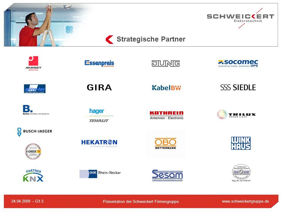 www.schweickertgruppe.de Präsentation der Schweickert Firmengruppe 24.04.2009 – G1.5 Strategische Partner
