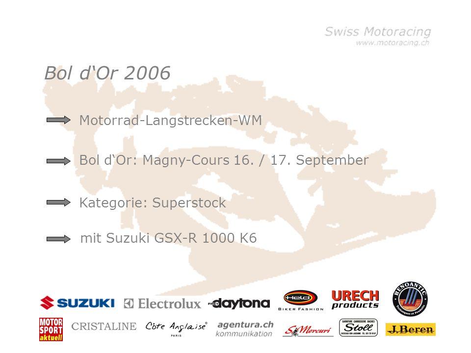 Bol dOr 2006 Motorrad-Langstrecken-WM Kategorie: Superstock mit Suzuki GSX-R 1000 K6 Bol dOr: Magny-Cours 16. / 17. September