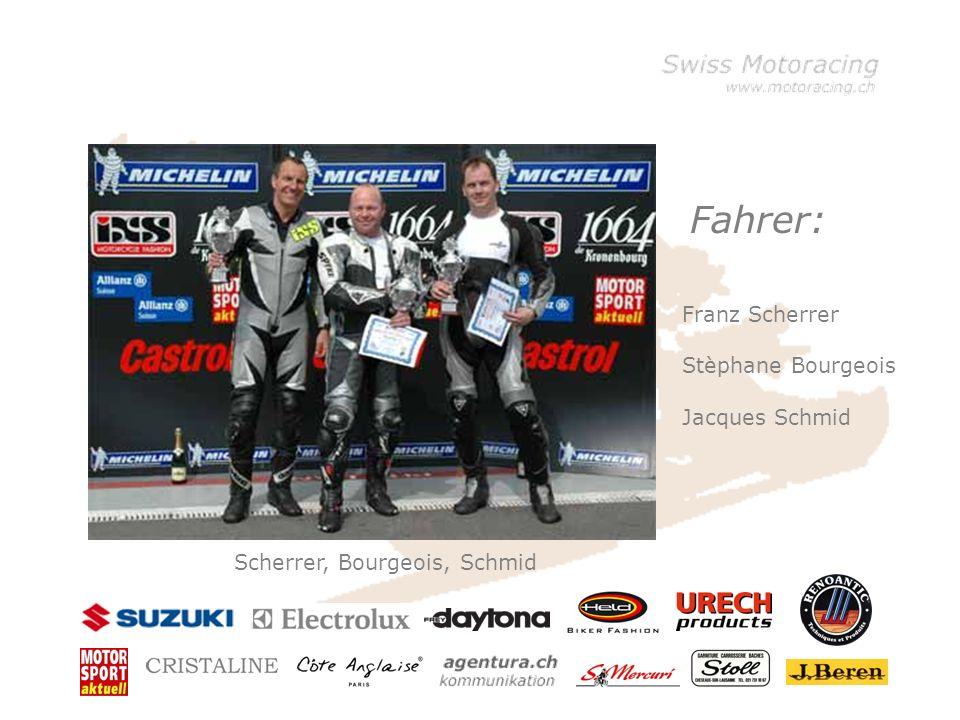 Fahrer: Scherrer, Bourgeois, Schmid Franz Scherrer Stèphane Bourgeois Jacques Schmid
