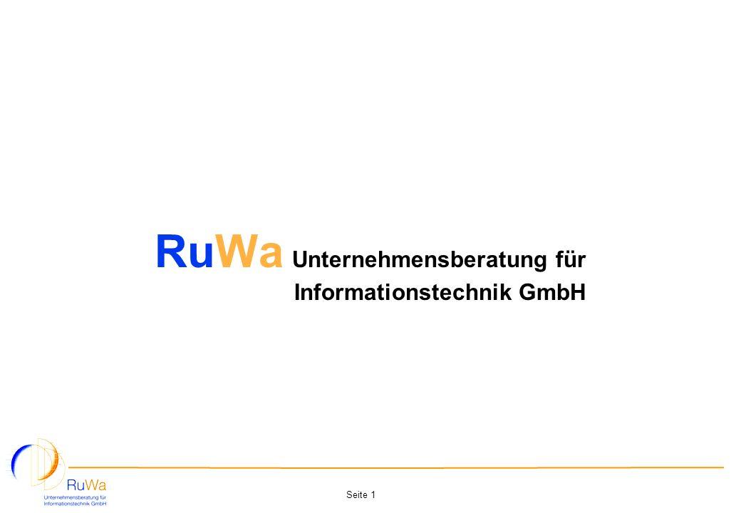 Seite 1 RuWa Unternehmensberatung für Informationstechnik GmbH