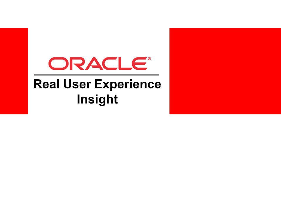 Real User Experience Insight