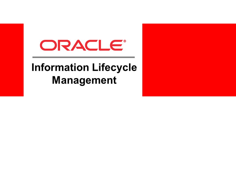 Information Lifecycle Management