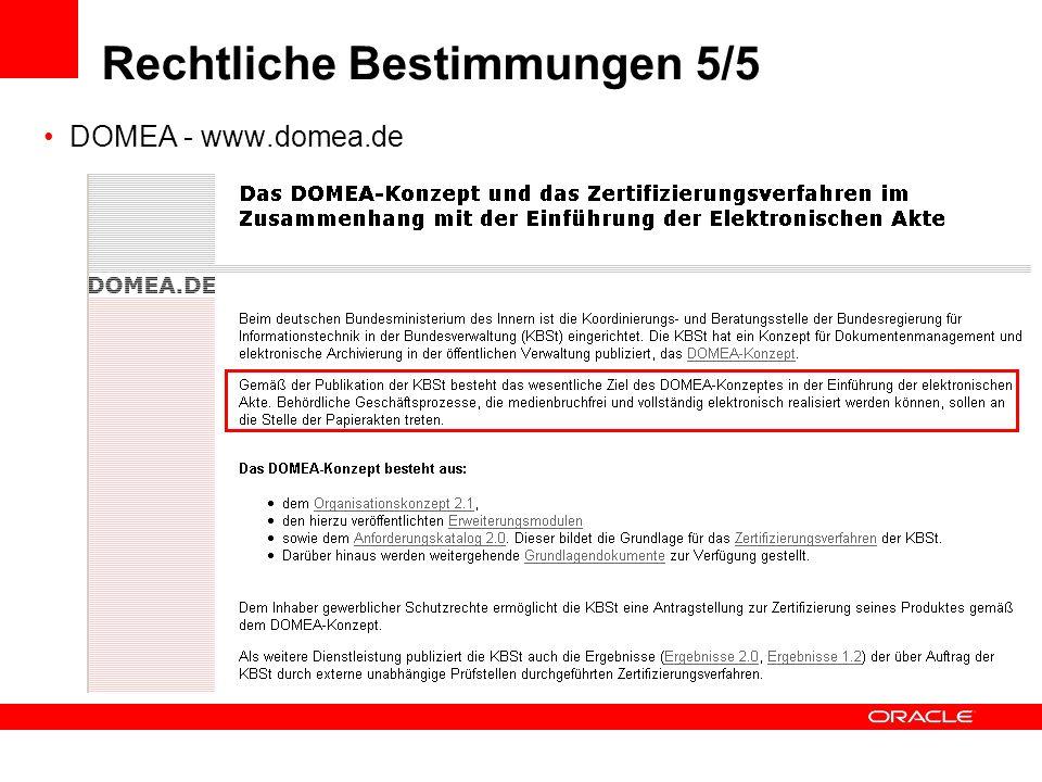 Rechtliche Bestimmungen 5/5 DOMEA - www.domea.de