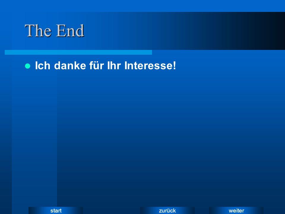 weiter zurück start The End Ich danke für Ihr Interesse!