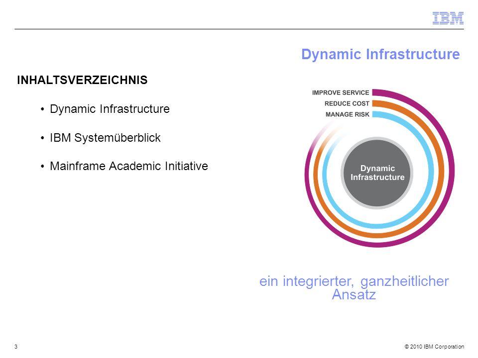© 2010 IBM Corporation44 Zusammenfassung Die Nachfrage nach IT wird wachsen …es ist Zeit Infrastrukturen neu zu betrachten.