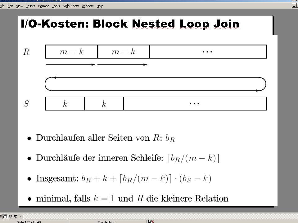 WS 2004/2005 Datenbanken II - 5W Mi 17:00 – 18:30 G 3.18 © Bojan Milijaš, 10.11.2004Vorlesung #4 - Anfragebearbeitung (Teil 2)10