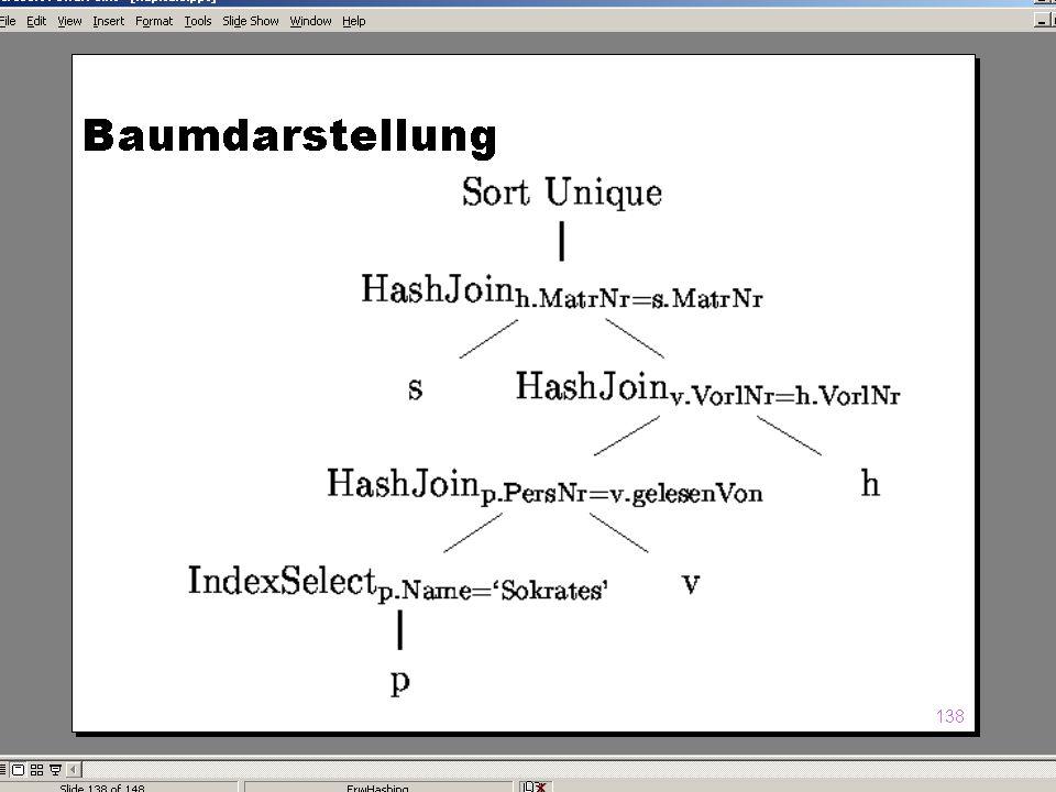 WS 2004/2005 Datenbanken II - 5W Mi 17:00 – 18:30 G 3.18 © Bojan Milijaš, 10.11.2004Vorlesung #4 - Anfragebearbeitung (Teil 2)15