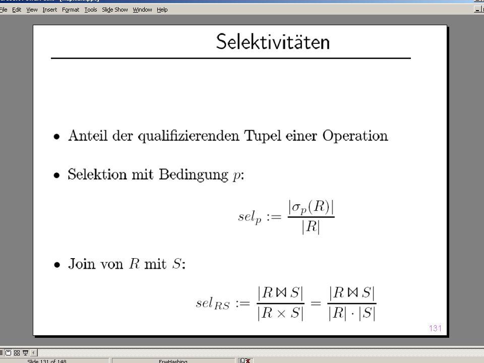 WS 2004/2005 Datenbanken II - 5W Mi 17:00 – 18:30 G 3.18 © Bojan Milijaš, 10.11.2004Vorlesung #4 - Anfragebearbeitung (Teil 2)6