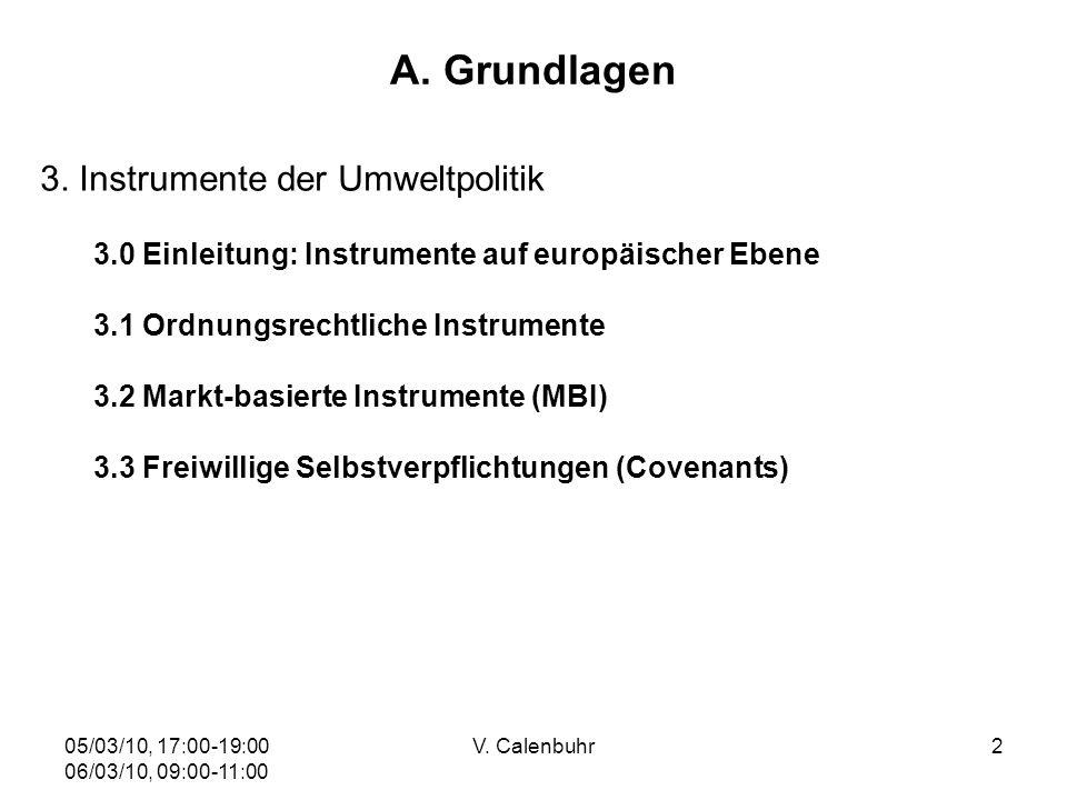 05/03/10, 17:00-19:00 06/03/10, 09:00-11:00 V. Calenbuhr33