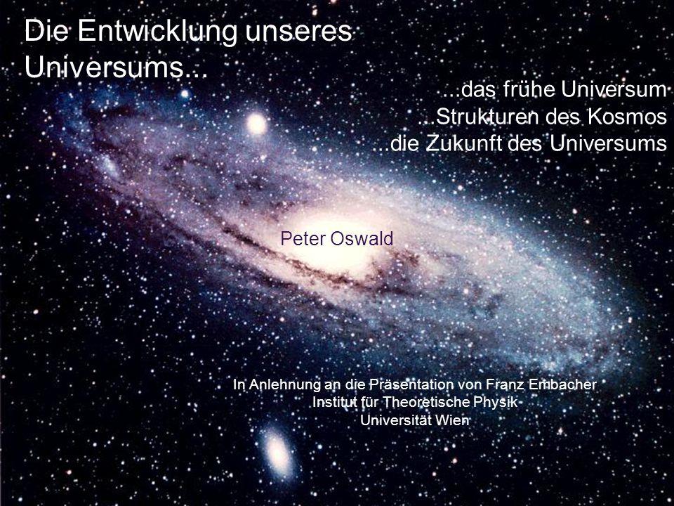 Wie wird sich das Universum weiterentwickeln.Zur Zeit scheint es beschleunigt zu expandieren.