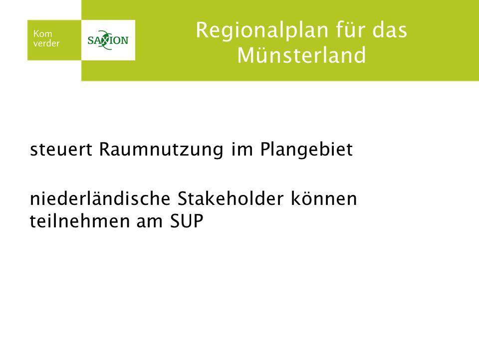 Regionalplan für das Münsterland steuert Raumnutzung im Plangebiet niederländische Stakeholder können teilnehmen am SUP