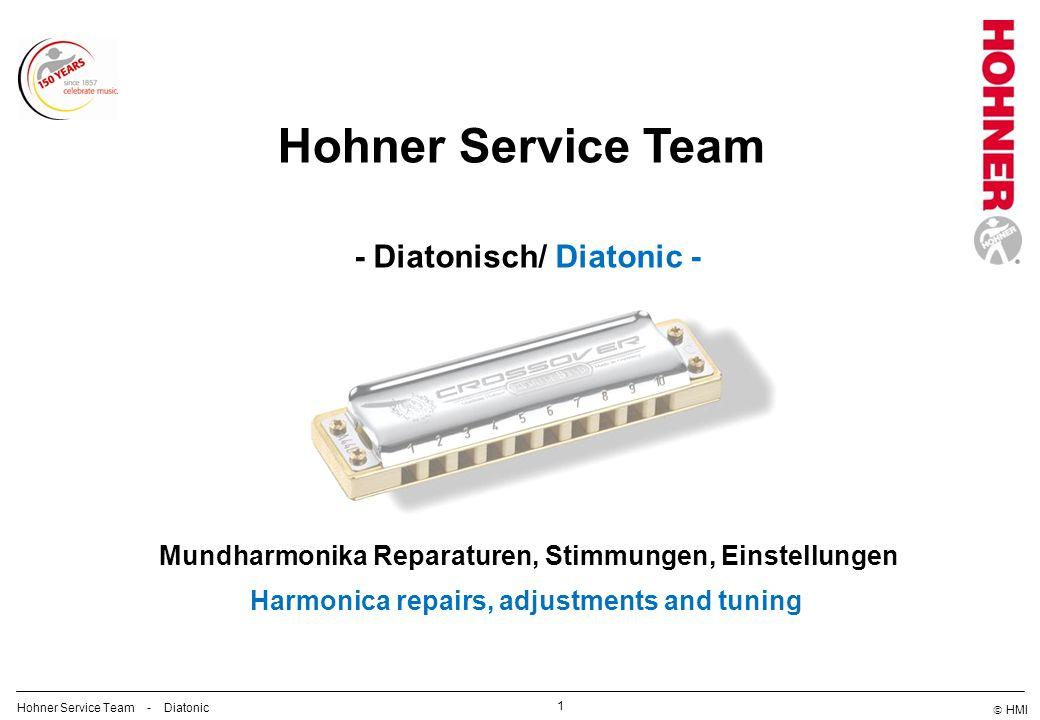 HMI 2 Hohner Service Team - Diatonic Hohner Service Team Gabi Hand Chromonica Christoph Meissner Diatonic/ Tuning Themen/ topics 1.