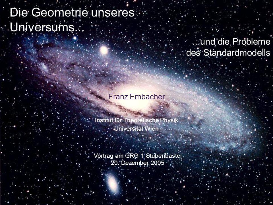 Die Geometrie unseres Universums...Franz Embacher Vortrag am GRG 1 Stubenbastei 20.