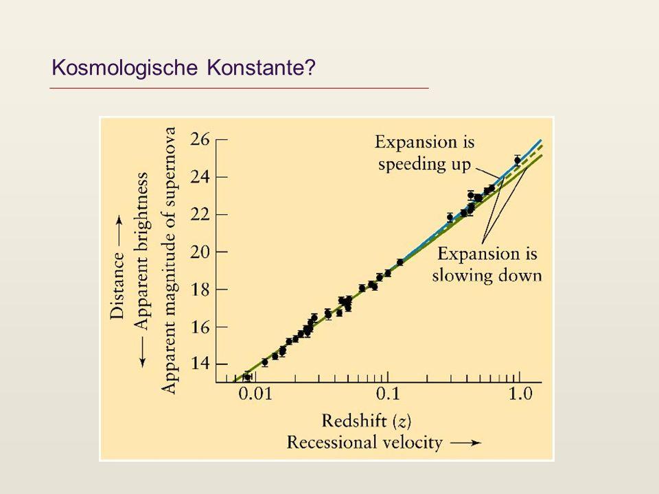 Kosmologische Konstante?