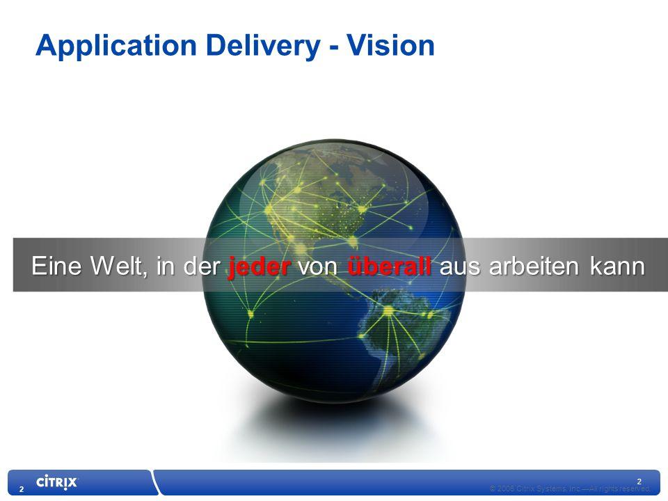 2 2 Eine Welt, in der jeder von überall aus arbeiten kann © 2006 Citrix Systems, Inc.All rights reserved.