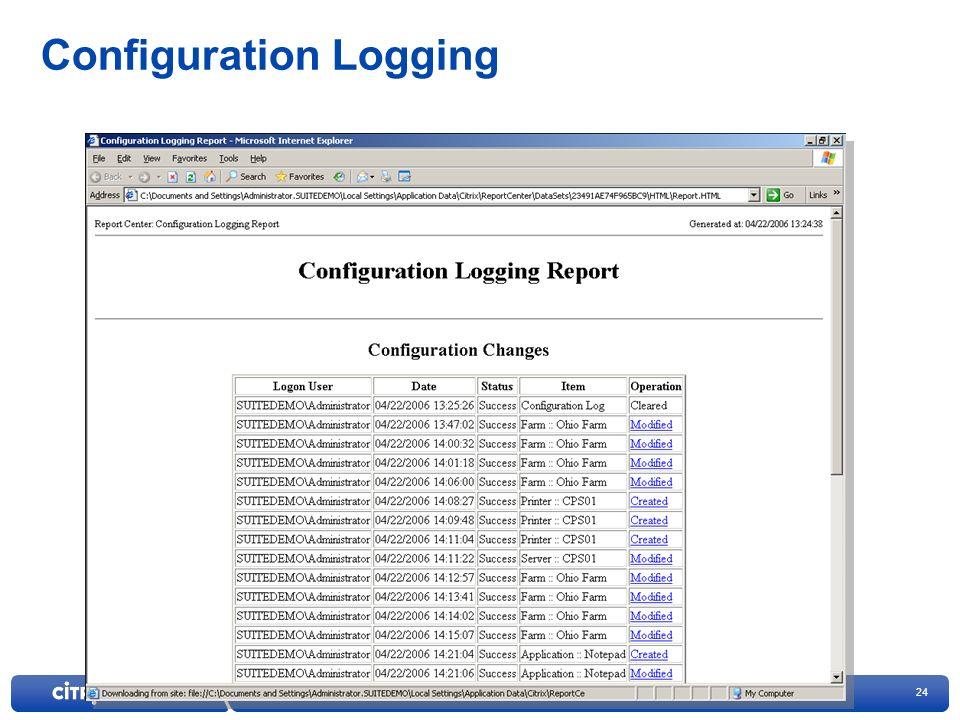 24 Configuration Logging