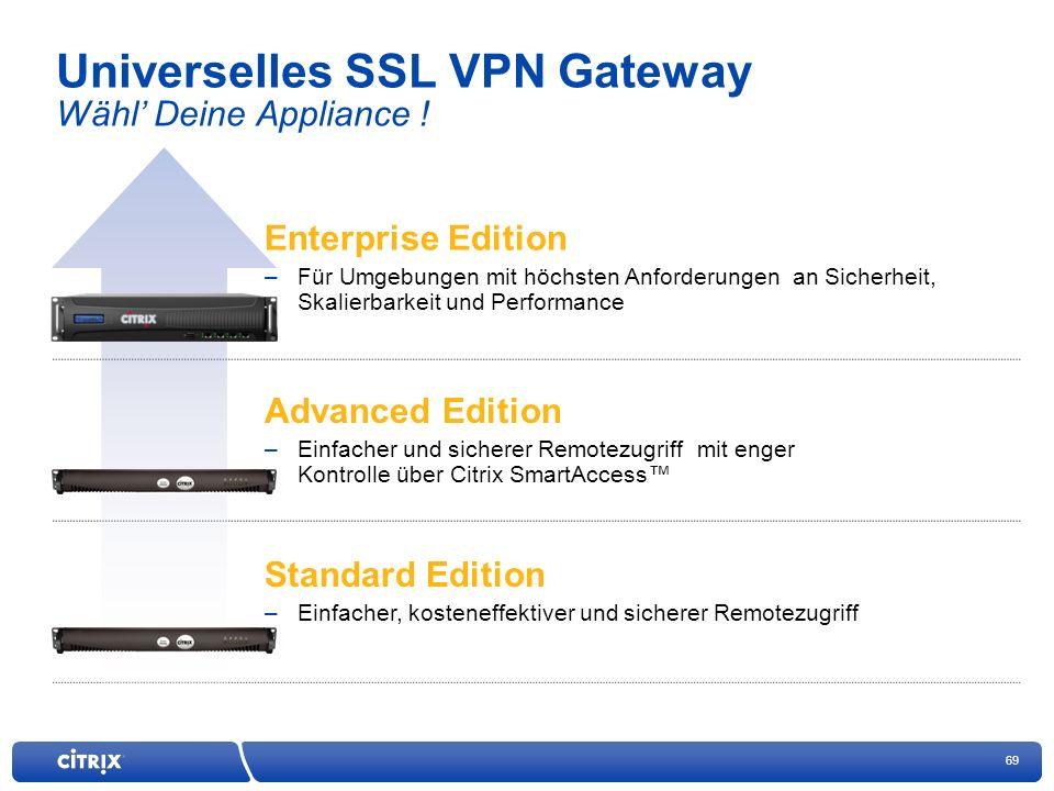 69 Universelles SSL VPN Gateway Wähl Deine Appliance .