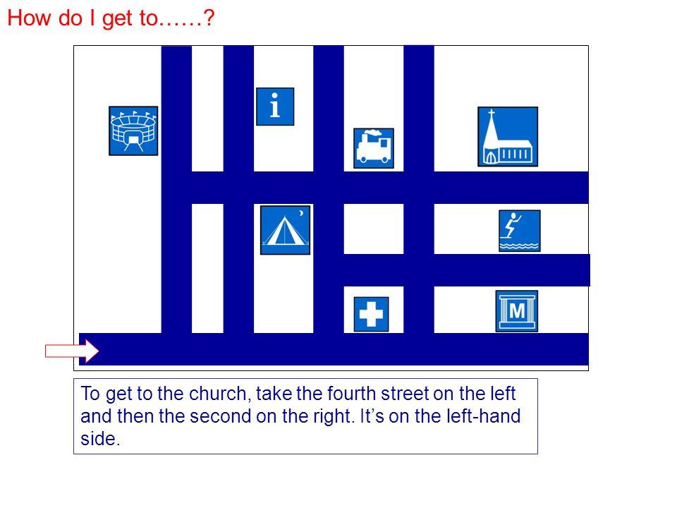 How do I get to……. Zum Stadion nehmen Sie die erste Straße links.