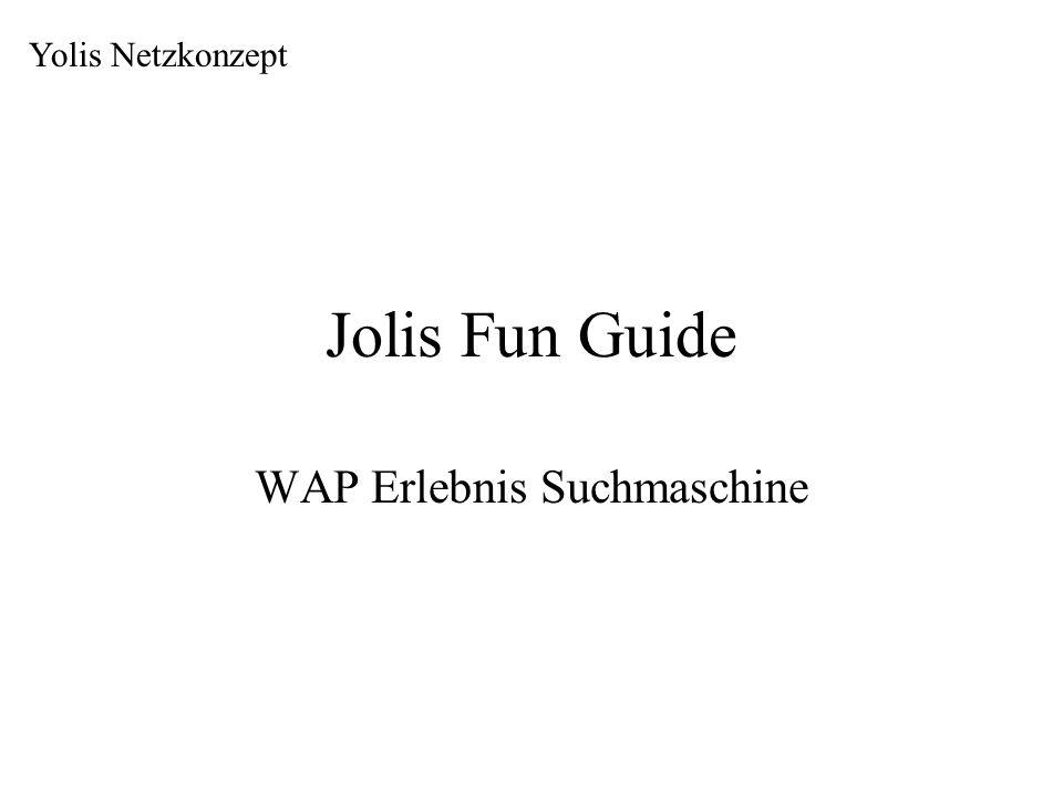 Jolis Fun Guide WAP Erlebnis Suchmaschine Yolis Netzkonzept