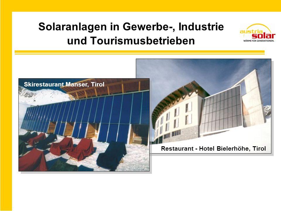 Solarwärme-Einspeisung ins Fernwärmenetz Derzeit ca.