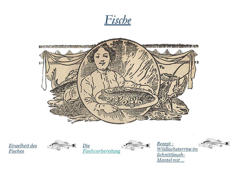 Fische Die Fischvorbereitung Einzelheit des Fisches Rezept : Wildlachsterrine im Schnittlauch- Mantel mit …