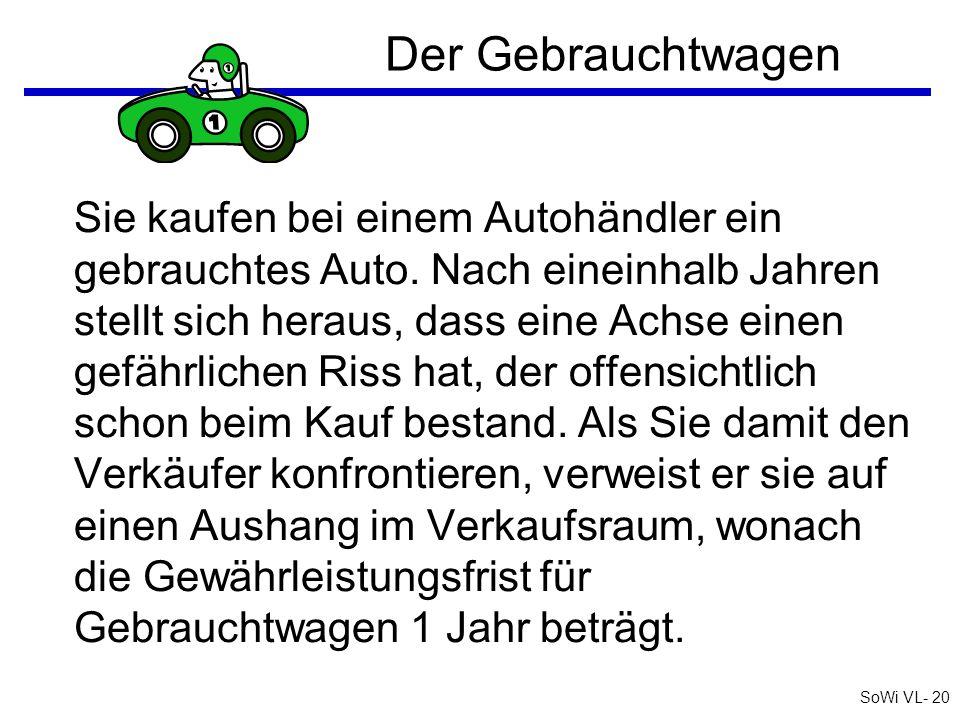 SoWi VL- 19 Barta: Zivilrecht online AGB (8) - § 6 Abs 2 KSchG q§ 6 Abs 2 KSchG: sofern...