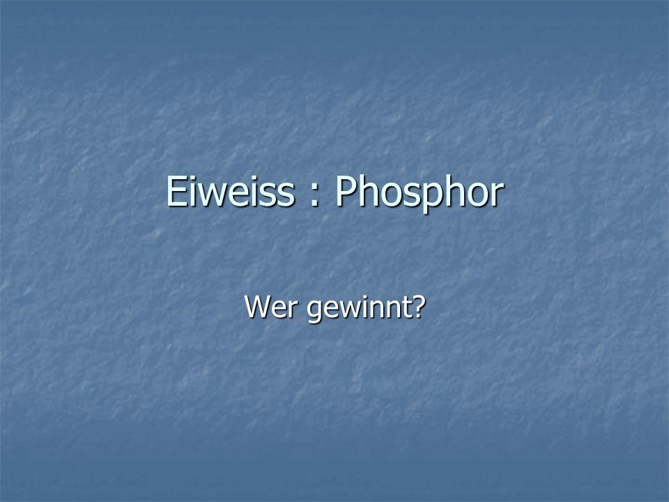 Eiweiss : Phosphor Wer gewinnt