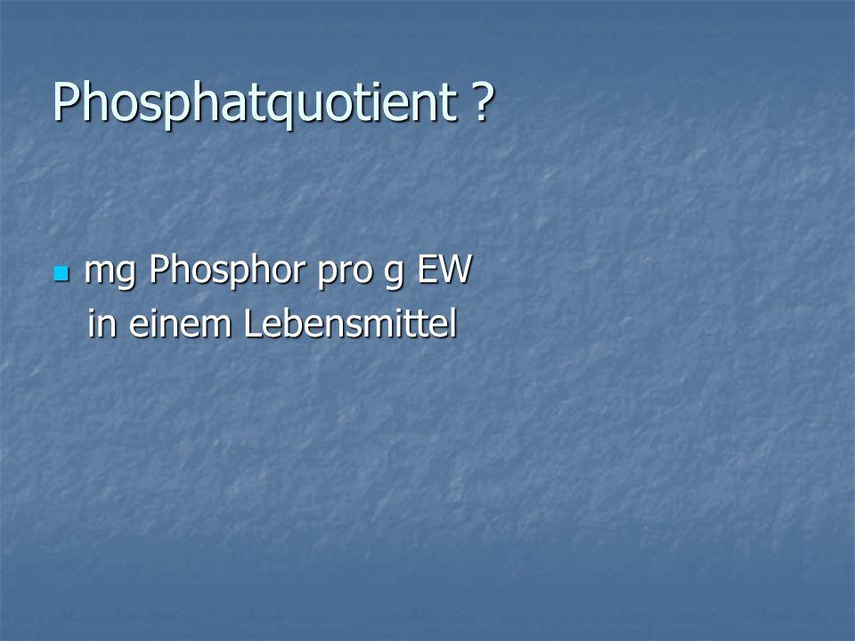 Phosphatquotient .