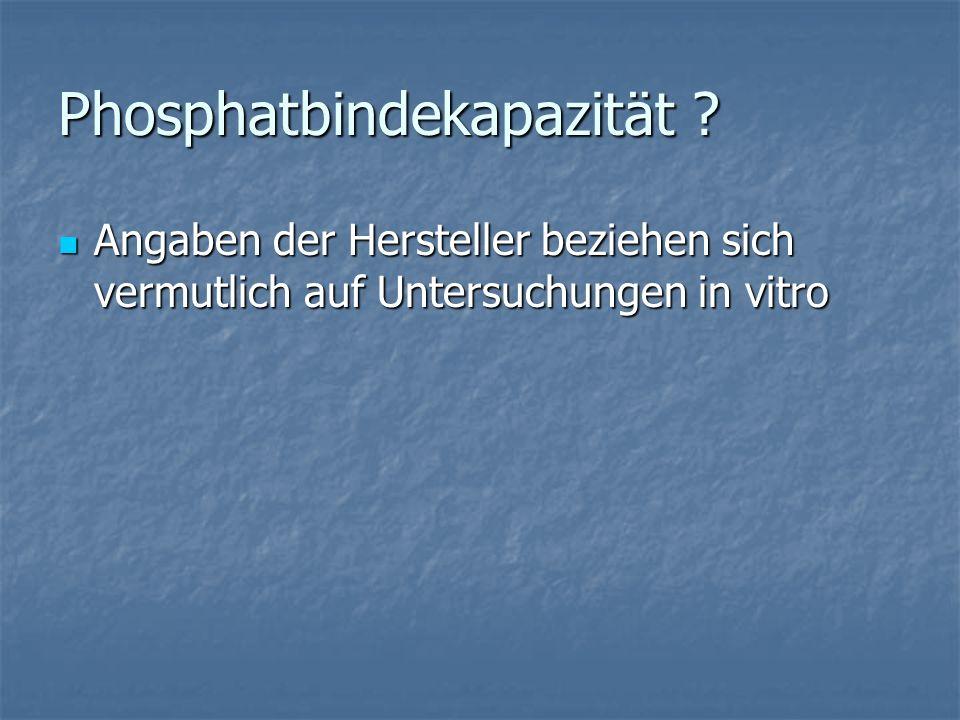 Phosphatbindekapazität .