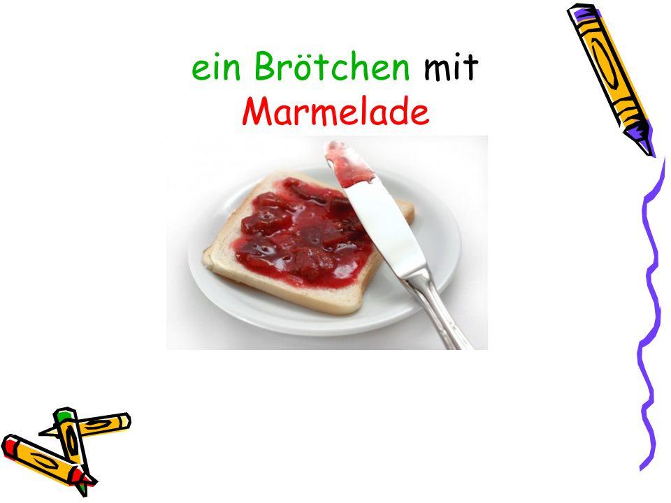 ein Brötchen mit Marmelade