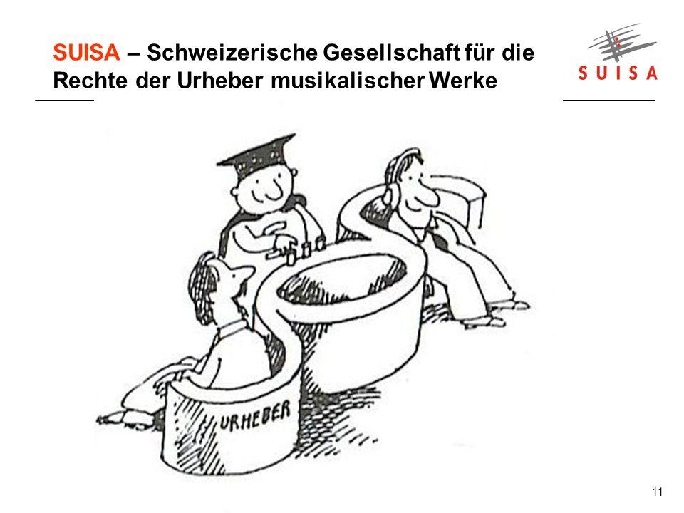 11 SUISA – Schweizerische Gesellschaft für die Rechte der Urheber musikalischer Werke