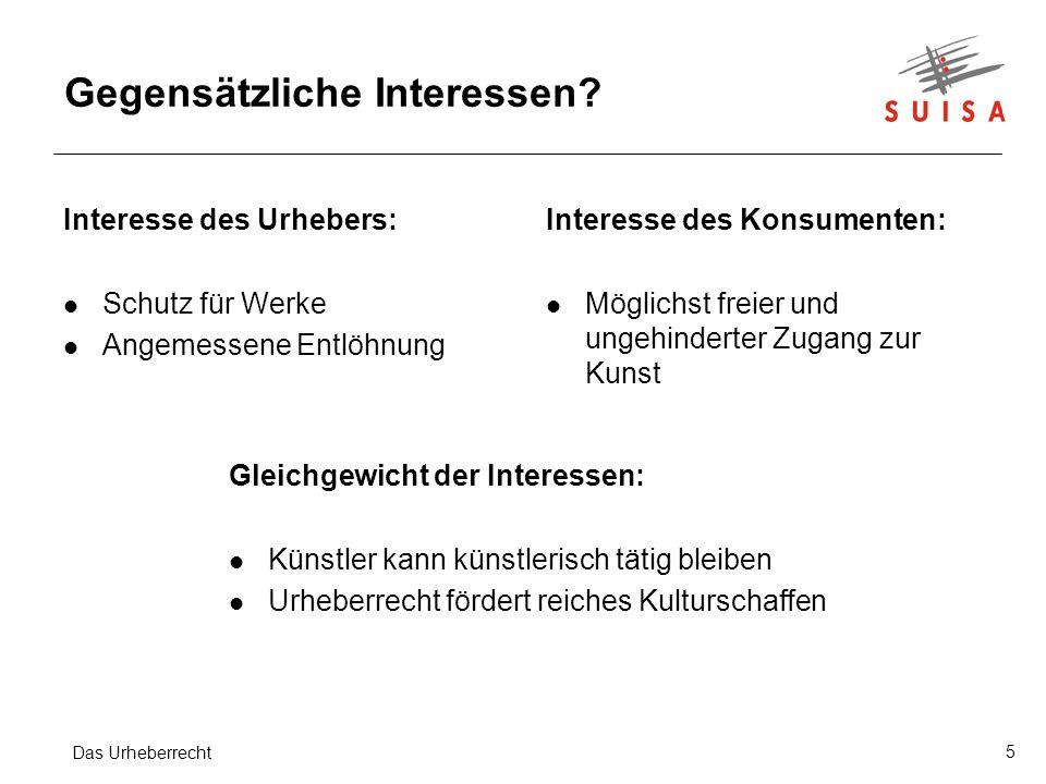 5 Gegensätzliche Interessen.