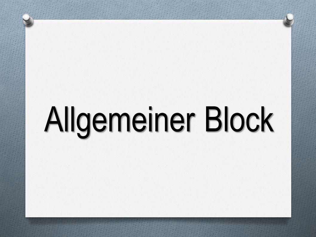 Allgemeiner Block
