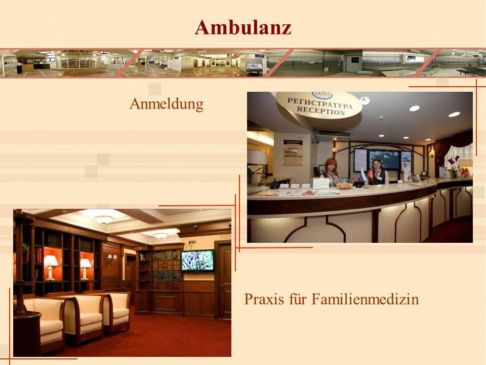 Ambulanz Anmeldung Praxis für Familienmedizin