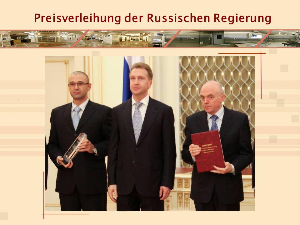 Preisverleihung der Russischen Regierung