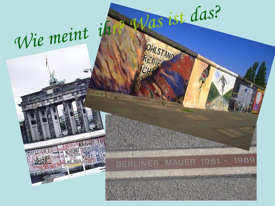 Die Berliner Mauer Die Berliner Mauer war über 28 Jahre ein Teil der innerdeutschen Grenze.