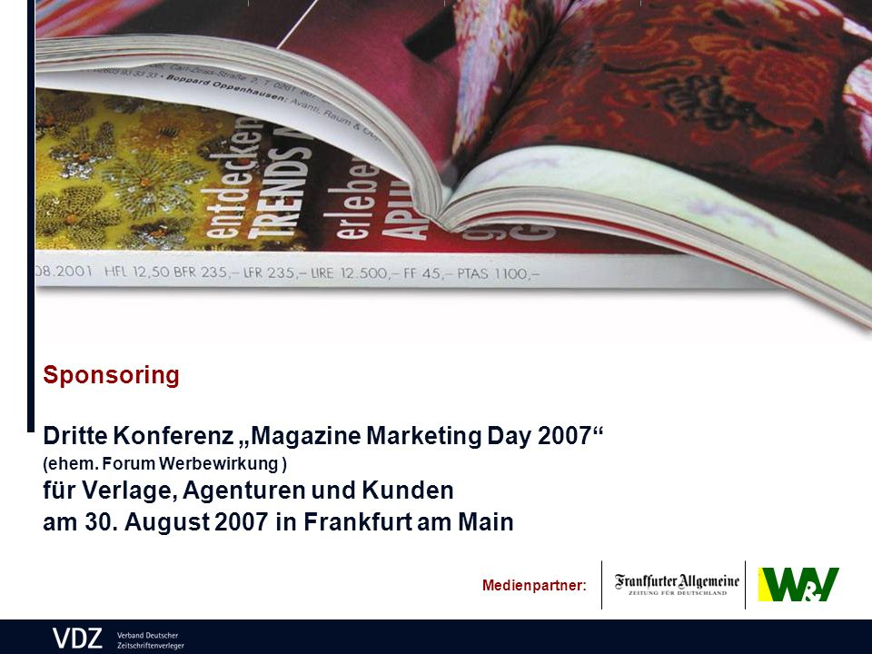 Sponsoring Dritte Konferenz Magazine Marketing Day 2007 (ehem.