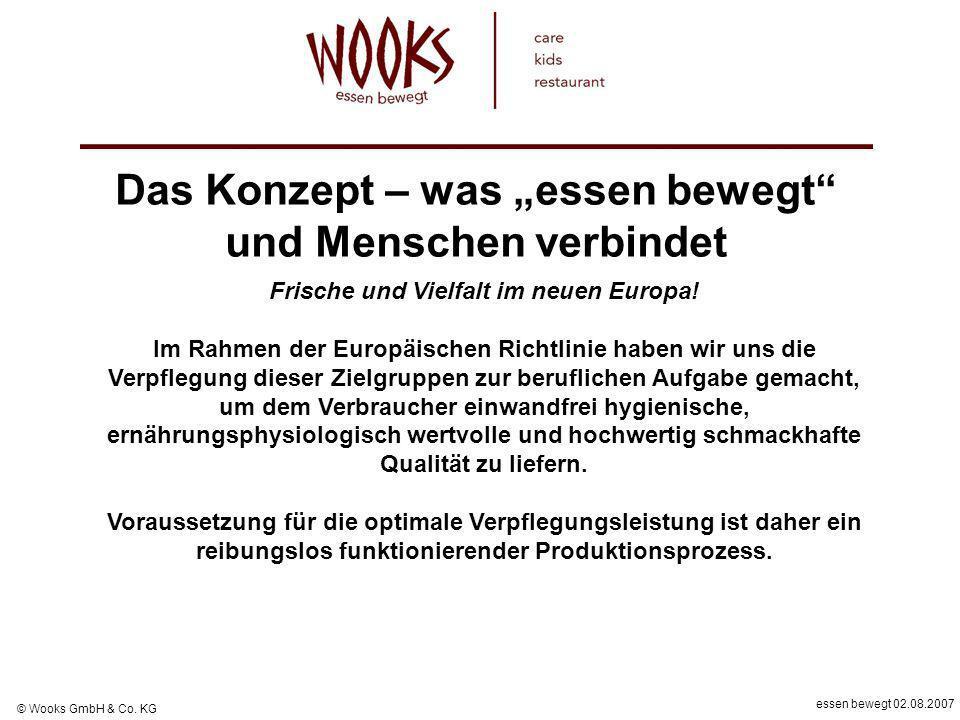 essen bewegt 02.08.2007 © Wooks GmbH & Co. KG Das Konzept – was essen bewegt und Menschen verbindet Frische und Vielfalt im neuen Europa! Im Rahmen de