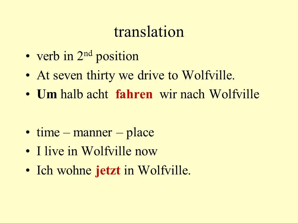 translation only nouns are capitalized At Acadia I study languages.