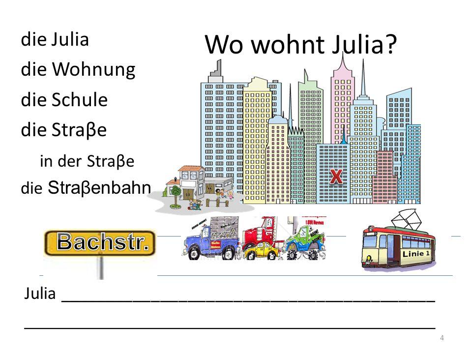 Wo wohnt Julia.