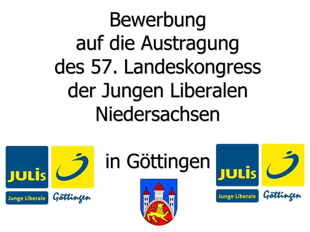 Bewerbung auf die Austragung des 57. Landeskongress der Jungen Liberalen Niedersachsen in Göttingen
